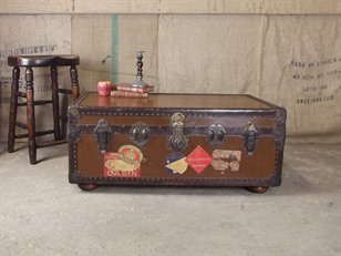 Vintage Steamer Trunk - Coffee Table